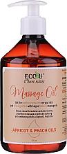 Düfte, Parfümerie und Kosmetik Regenerierendes Massageöl mit Pfirsich- und Aprikosenöl - Eco U Massage Oil Sweet Apricot & Peach Oil