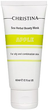 Schönheitsmaske Apfel für fettige und Mischhaut. - Christina Sea Herbal Beauty Mask Green Apple