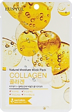Düfte, Parfümerie und Kosmetik Feuchtigkeitsspendende Tuchmaske für das Gesicht mit Kollagen - Eunyul Natural Moisture Mask Pack Collagen