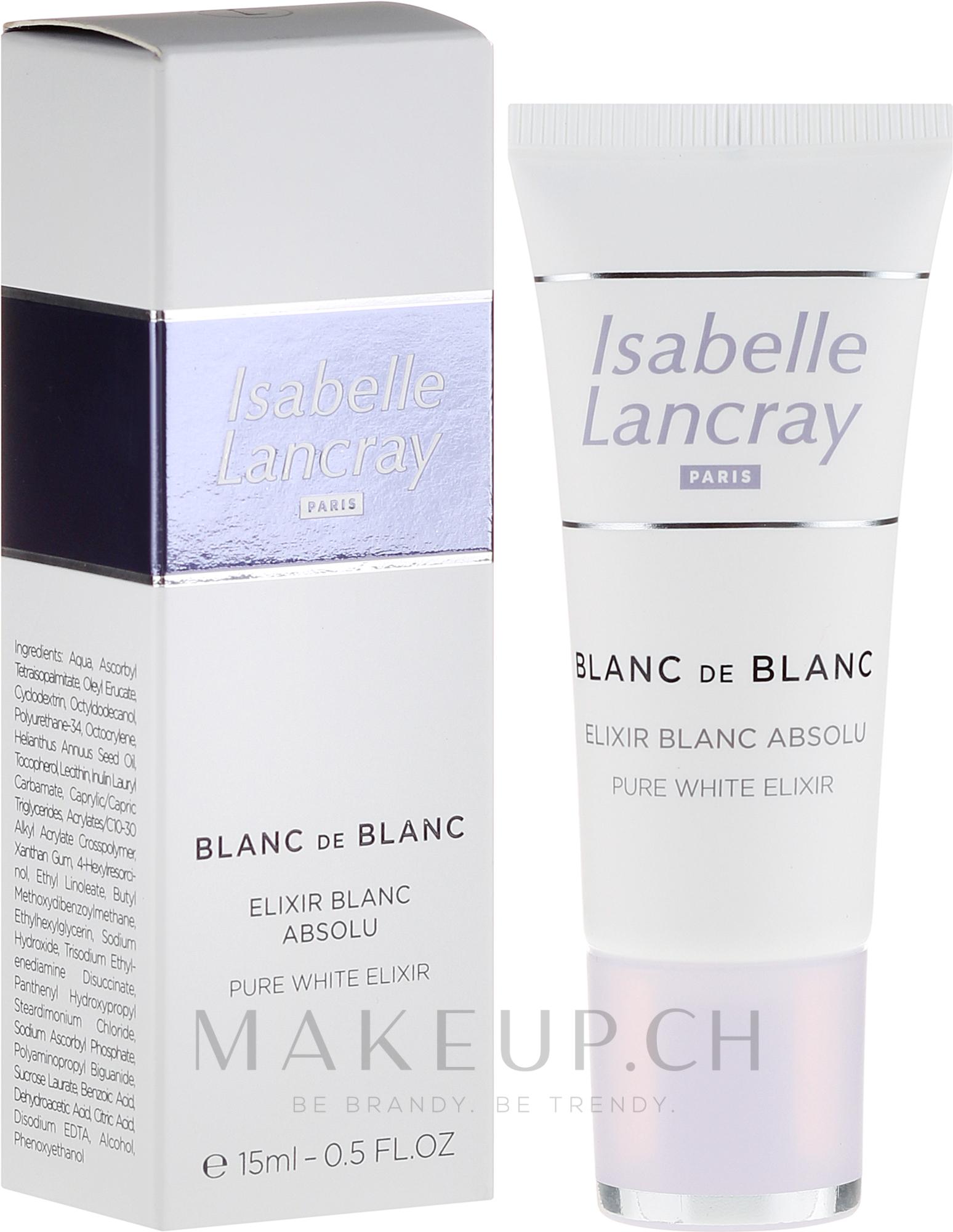 Aufhellendes Gesichtselixier für pigmentgestörte Haut - Isabelle Lancray Blanc De Blanc Pure White Elixir — Bild 15 ml