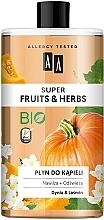 Düfte, Parfümerie und Kosmetik Feuchtigkeitsspendender und erfrischender Badeschaum mit Kürbis und Jasmin - AA Super Fruits & Herbs