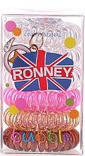 Düfte, Parfümerie und Kosmetik Haargummis Farb-Mix 6 St. №9 - Ronney Professional Funny Ring Bubble 9
