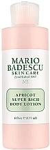 Düfte, Parfümerie und Kosmetik Reichhaltige nährende Körperlotion mit Aprikosenkernöl - Mario Badescu Apricot Super Rich Body Lotion