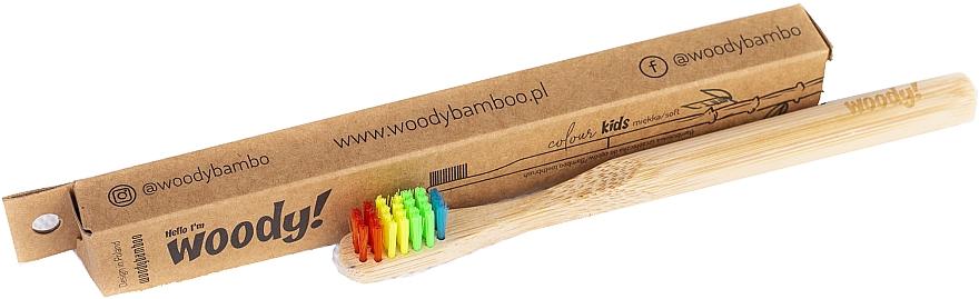 Bambuszahnbürste für Kinder weich Colour mehrfarbig - WoodyBamboo Bamboo Toothbrush Kids Soft/Medium — Bild N1