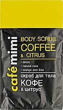 Düfte, Parfümerie und Kosmetik Körperpeeling mit Kaffee, Orange und Limette - Cafe Mimi Body Scub Coffee & Citrus