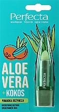 Düfte, Parfümerie und Kosmetik Pflegender Lippenbalsam mit Aloe Vera und Kokos - Perfecta Aloe Vera + Coconut