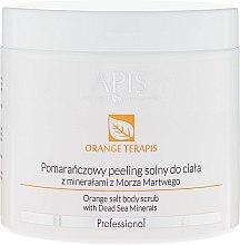 Düfte, Parfümerie und Kosmetik Glättendes Körperpeeling - APIS Professional Orange Terapis Orange Salt Body Scrub With Dead Sea Minerals