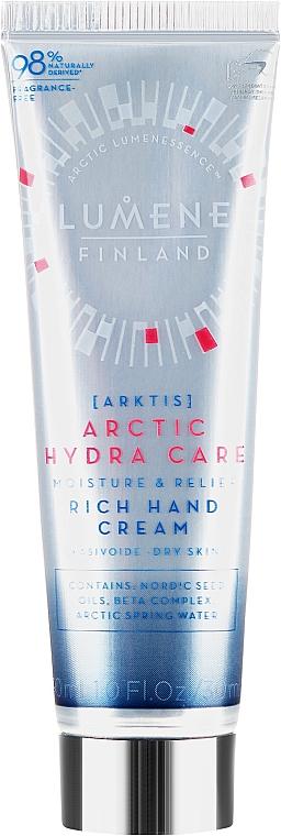 Nährende Handcreme mit Heidelbeere, Hafer und Rapsölen - Lumene Arctic Hydra Care Moisture & Relief Rich Hand Cream
