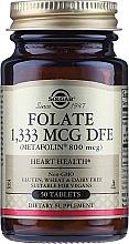 Düfte, Parfümerie und Kosmetik Nahrungsergänzungsmittel Folsäure 800 mcg in Tablettenform - Solgar