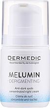 Düfte, Parfümerie und Kosmetik Nachtcreme-Konzentrat gegen Pigmentflecken - Dermedic MeLumin Depigmenting Night Cream