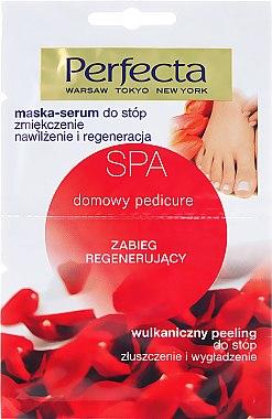 Glättende Fußmaske und vulkanisches Fußpeeling - Perfecta Spa Foot Peeling