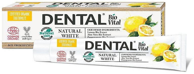 Aufhellende Zahnpasta mit Zitroneextrakt - Dental Bio Vital Natural White Toothpaste