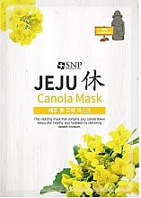Düfte, Parfümerie und Kosmetik Feuchtigkeitsspendende, vitalisierende und pflegende Tuchmaske mit Rapsöl für alle Hauttypen - SNP Jeju Rest Canola Mask