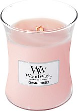 Düfte, Parfümerie und Kosmetik Duftkerze im Glas Coastal Sunset - WoodWick Hourglass Candle Coastal Sunset