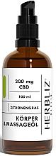 Düfte, Parfümerie und Kosmetik Massageöl für den Körper mit Zitronengras - Herbliz CBD