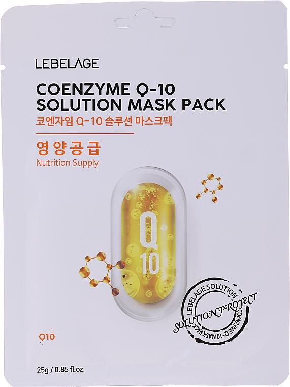 Pflegende Tuchmaske mit Coenzym Q10 - Lebelage Coenzyme Q-10 Solution Mask