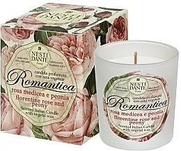 Düfte, Parfümerie und Kosmetik Duftkerze im Glas Florentiner Rose und Pfingstrose - Nesti Dante Romantica Florentine Rose & Peony