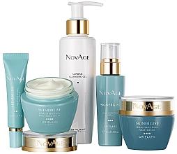 Düfte, Parfümerie und Kosmetik Gesichtspflegeset - Oriflame NovAge Skinergise Set (Reinigungsgel-Tonic 150ml + Augencreme 15ml + Gesichtsserum 30ml + Tagescreme 50ml + Nachtcreme 50ml)
