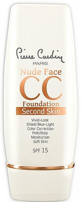 Krem CC do twarzy - Pierre Cardin Nude Face CC Foundation Second Skin SPF 15