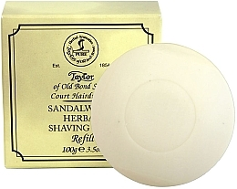Düfte, Parfümerie und Kosmetik Kräuter-Rasierseife mit Sandelholzduft Nachfüller - Taylor Of Old Bond Street Sandalwood Herbal Shaving Soap Refill