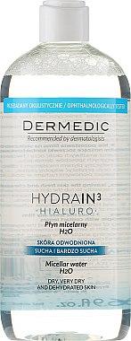 Mizellenwasser für trockene Haut - Dermedic Hydrain3 Hialuro Micellar Water