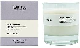 Düfte, Parfümerie und Kosmetik Duftkerze im Glas Amber & Clove - Ambientair Lab Co. Amber & Clove