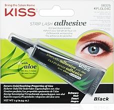 Düfte, Parfümerie und Kosmetik Wimpernband-Kleber für künstliche Wimpern mit Aloe Vera - Kiss Strip Lash Adhesive Black