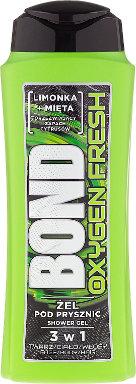Duschgel 3in1 - Bond Oxygen Fresh Shower Gel