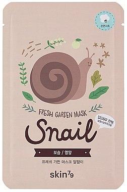 Erfrischende Tuchmaske für das Gesicht mit Schneckenextrakt - Skin79 Fresh Garden Mask Snail