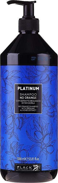 Anti-Orangestich Shampoo mit Bio Mandelextrakt - Black Professional Line Platinum No Orange Shampoo With Organic Almond Extract — Bild N3