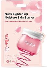 Düfte, Parfümerie und Kosmetik Feuchtigkeitsspendende und glättende Tuchmaske fär das Gesicht mit Granatapfelextrakt - Frudia Nutri-Moisturizing Pomegranate Mask