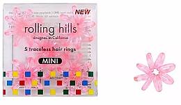 Düfte, Parfümerie und Kosmetik Spiral-Haargummis mini 5 St. transparent-rosa - Rolling Hills 5 Traceless Hair Rings Mini Transparent Pink