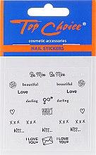 Düfte, Parfümerie und Kosmetik Dekorative Nagelsticker - Top Choice Word Golds Silver