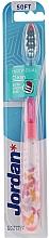 Düfte, Parfümerie und Kosmetik Zahnbürste weich Individual Clean rosa mit Schmetterlingen - Jordan Individual Clean Soft