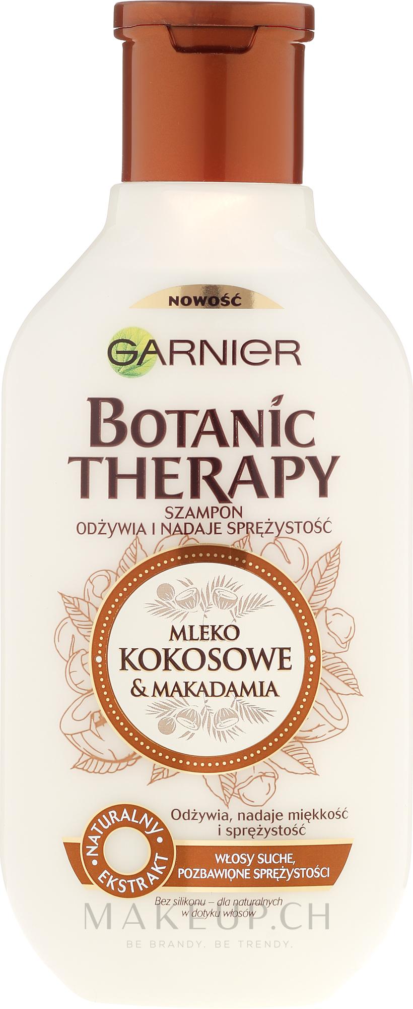 Pflegendes Shampoo mit Kokosmilch und Macadamia - Garnier Botanic Therapy Coconut Milk & Makadamia Shampoo — Bild 250 ml