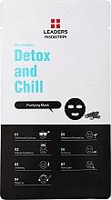 Düfte, Parfümerie und Kosmetik Reinigende Detox Tuchmaske mit Aktivkohle, Vulkanasche und Grüntee-Extrakt - Leaders Daily Wonders Detox and Chill Charcoal Purifying Mask
