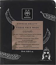 Düfte, Parfümerie und Kosmetik Entgiftende und reinigende Tuchmaske mit Johannisbrot - Apivita Express Beauty Tissue Face Mask Carob