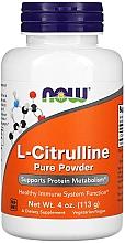 Düfte, Parfümerie und Kosmetik Nahrungsergänzungsmittel L-Citrullin für ein starkes Immunsystem in Pulverform - Now Foods L-Citrulline Pure Powder