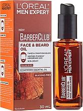 Düfte, Parfümerie und Kosmetik Beruhigendes und nährendes Gesichts- und Bartöl mit Zedernholzöl - L'Oreal Paris Men Expert Barber Club Long Beard & Skin Oil