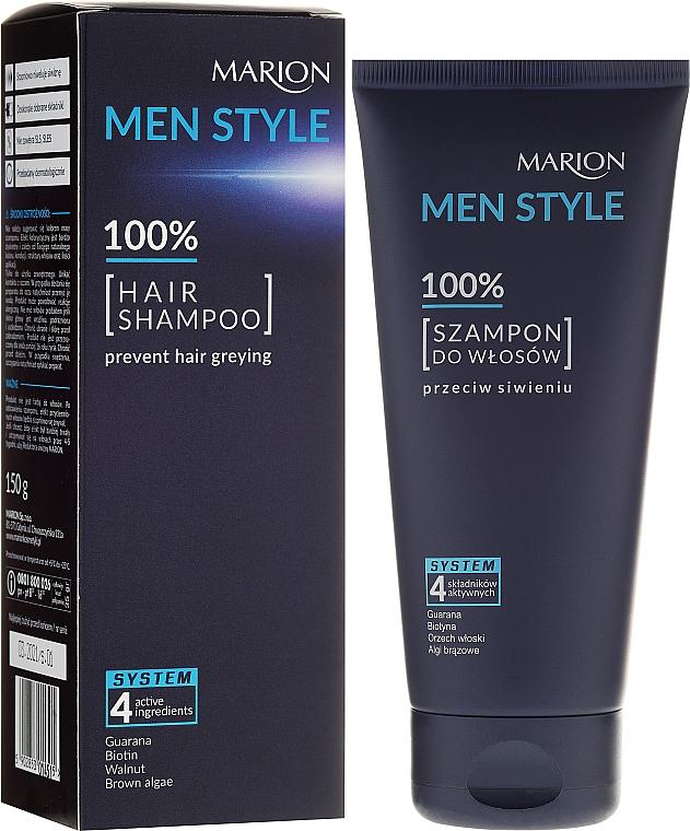 Shampoo für Männer, Tiefenreinigung und Erfrischung - Marion Men Style Shampoo Against Greying
