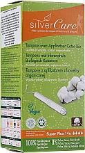Düfte, Parfümerie und Kosmetik Tampons aus Bio-Baumwolle mit Applikator Super Plus 14 St. - Masmi Silver Care