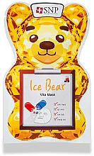 Düfte, Parfümerie und Kosmetik Kühlende Tuchmaske für das Gesicht mit Vitaminkomplex - SNP Ice Bear Vita Mask