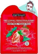 Düfte, Parfümerie und Kosmetik Tiefenreinigende Tuchmaske mit Erdbeere und Minze - Freeman Feel Beautiful Pore Cleansing Sheet Mask