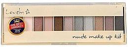 Düfte, Parfümerie und Kosmetik Lidschattenpalette - Lovely Dark Nude Make Up Kit