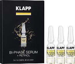 Düfte, Parfümerie und Kosmetik Zweiphasiges Gesichtsserum mit Retinol - Klapp Bi-Phase Serum Retinol