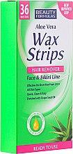 Düfte, Parfümerie und Kosmetik Enthaarungswachsstreifen für Gesicht und Bikinizone mit Traubenkernöl - Beauty Formulas Wax Strips Face & Bikini Line