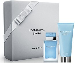 Düfte, Parfümerie und Kosmetik Dolce & Gabbana Light Blue Eau Intense - Duftset (Eau de Parfum 50ml + Körpercreme 100ml)