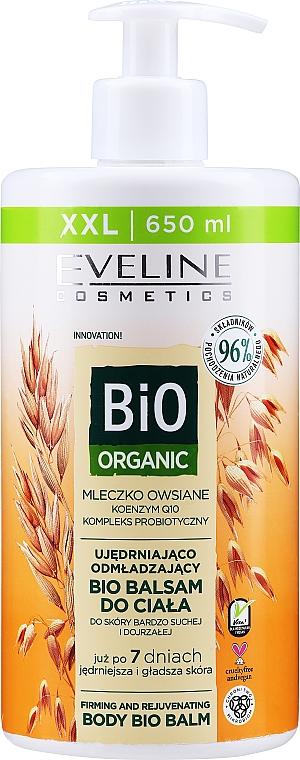 Straffender und verjüngender Bio Körperbalsam mit Hafermilch für sehr trockene und reife Haut - Eveline Cosmetics Bio Organic Firming And Rejuvenating Body Bio Balm Oat Milk