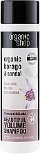 Düfte, Parfümerie und Kosmetik Volumen Shampoo mit Bio-Boragoöl & Sandelholzextrakt - Organic Shop Organic Sandal and Indian Nut Volume Shampoo