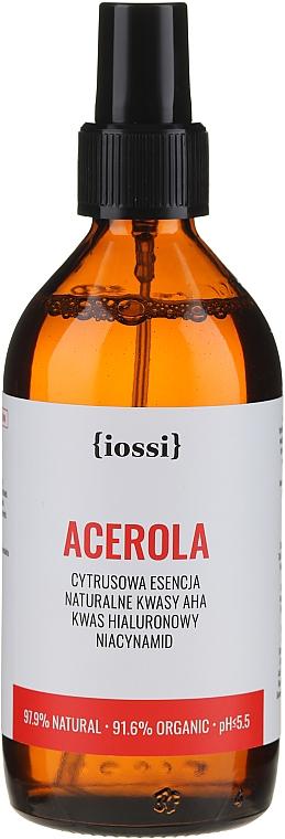 Acerola Gesichtsessenz mit AHA-Säuren, Hyaluronsäure und Niacinamid - Iossi Acerola Essence